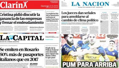 El reclamo de Cristina Kirchner sobre las ganancias de las empresas, en las tapas de los diarios argentinos
