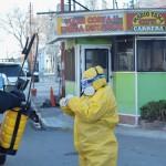 Desinfectaron parada de Taxi Carrera por positivo de Covid-19