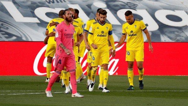 Real Madrid sufrió una derrota histórica con el ascendido Cádiz en la Liga